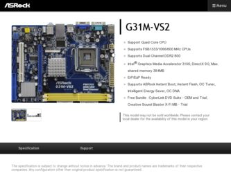 All free download motherboard drivers: asrock g31m-vs2 driver xp.