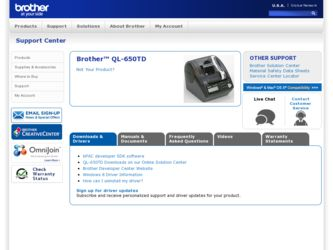 What Is Brother QL-650TD Driver