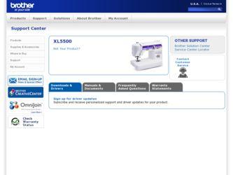 xl 5500 sewing machine
