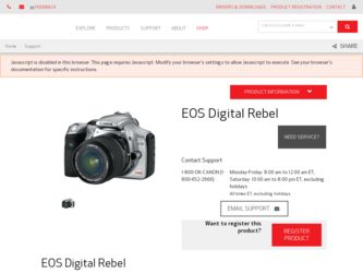 canon eos digital rebel manual