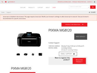 Canon MG8120 Driver Download