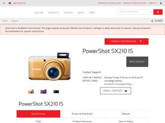 canon powershot 210 is manual