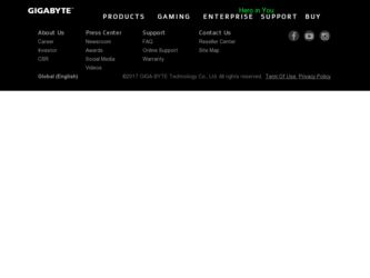 M1305 driver download page on the Gigabyte site