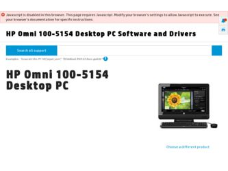 HP Omni 100-5154 Driver and Firmware Downloads