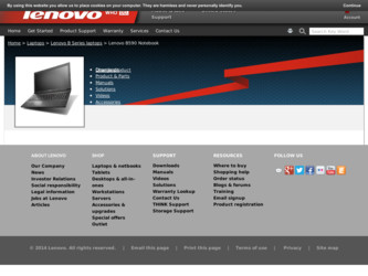 B590 driver download page on the Lenovo site