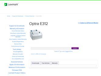 Lexmark Optra E312 Printer Driver Windows 7