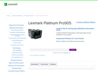 Lexmark Platinum Pro905 Windows 10 Driver