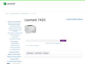 LEXMARK T420 DRIVER
