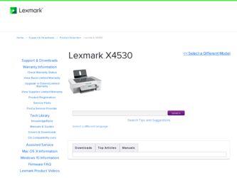 Lexmark X4530 Manual