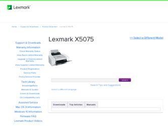 Lexmark X5075 Driver Windows 10