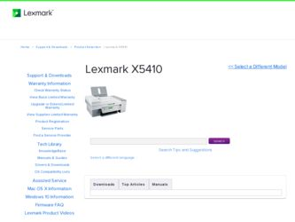 Lexmark X5410 - multifunction printer - color Specs