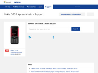 5310 XpressMusic driver download page on the Nokia site