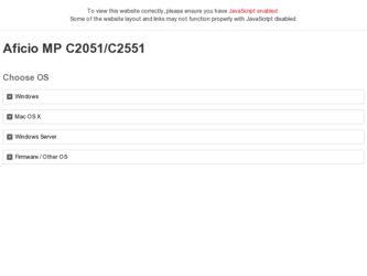 Ricoh Aficio Mp C2051 Driver And Firmware Downloads