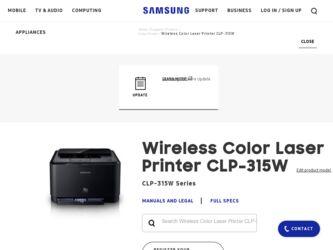 Samsung Printer Clp 315w Driver Download
