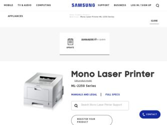 Samsung ml 2250 printer manual