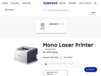 Samsung 2510 Laser Printer Driver