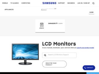P2370HD driver download page on the Samsung site
