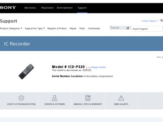 Sony icd p320 software download