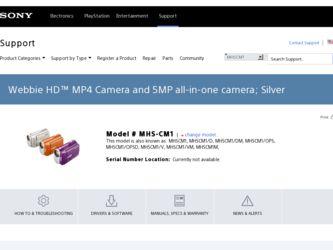 SONY WEBBIE HD MHS-CM1 DRIVERS FOR WINDOWS 7