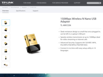 TL-WN725N driver download page on the TP-Link site