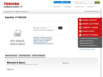 Satellite 1715XCDS driver download page on the Toshiba site