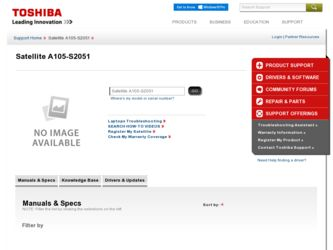 Satellite A105-S2051 driver download page on the Toshiba site